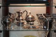 Sale 8379 - Lot 141 - Silver Plated Ice Bucket with Other Plated Wares incl. a Muffineer