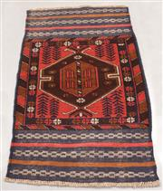 Sale 8445K - Lot 96 - Afghan Baluchi Tribal Rug , 139x83cm, Handwoven in Afghanistan using local wool. Highly durable rustic construction. Heavily motifed...