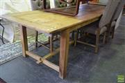 Sale 8550 - Lot 1276 - Recycled Timber Farmhouse Table (290cm)
