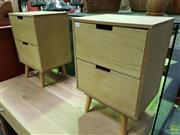 Sale 8562 - Lot 1059 - Pair of Modern Bedsides with Two Drawers