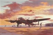 Sale 8781 - Lot 599 - Brian Baigent (1929 - ) - Night Mission Lancaster B111 50 x 76cm
