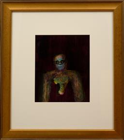 Sale 9150J - Lot 4 - SIDNEY NOLAN (1917 - 1992) Male Figure oil on paper 29 x 24 cm signed & dated 69 verso