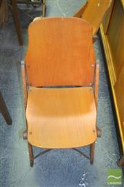 Sale 8275 - Lot 1093 - Set of 8 Vintage Folding School Chairs