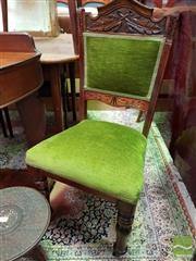 Sale 8480 - Lot 1078 - Pair of Green Velvet Chairs