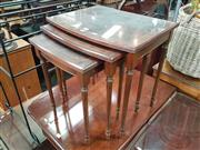 Sale 8566 - Lot 1261 - Nest of 3 Inlaid Tables (55)