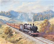 Sale 8781 - Lot 600 - Brian Baigent (1929 - ) - North Coast Mail near Coffs Harbour 51 x 61cm