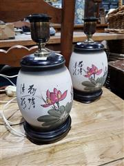 Sale 8777 - Lot 1066 - Pair of Oriental Table Lamps