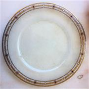 Sale 8878T - Lot 22 - Peter Crisp Atlantis 1 Art Glass Platter, decorated with 22ct Gold  Diameter - 36cm