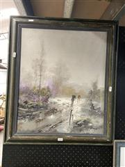 Sale 8891 - Lot 2096 - Artist Unknown - Stormy Weather, oil, SLR, 54.5x45cm