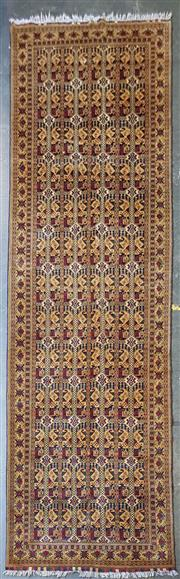 Sale 9026 - Lot 1083 - Very Fine Hand Knotted Pure Wool Persian Herati (487 x 145cm)