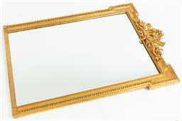 Sale 9099 - Lot 10 - A giltwood overmantle mirror. Height 156cm x Width 112cm