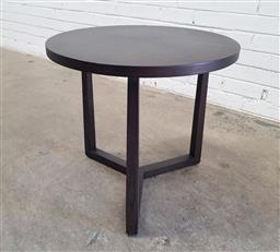 Sale 9134 - Lot 1521 - Modern timber side table (h:54 dia:54cm)