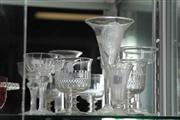 Sale 8032 - Lot 27 - Six 19th Century Glasses. incl one Etched with Crocodile Ring of Henry VIII