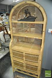 Sale 8337 - Lot 1053 - Cane Open Shelving
