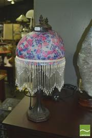 Sale 8352 - Lot 1069 - Set of 4 Beaded Shade table Lamps