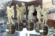 Sale 8360 - Lot 38 - Set of Six Resin Musician Figures