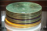 Sale 8379 - Lot 157 - Thomas Goode Stipple Set of 3 Cabinet Plates with 9 Others