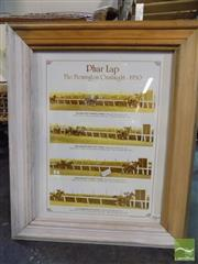 Sale 8407T - Lot 2064 - Pharlap In Harlequin Frame