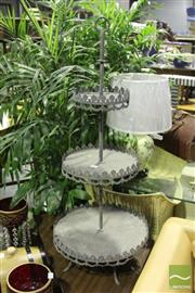 Sale 8499 - Lot 1021 - Tiered Cake Stand
