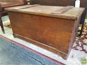 Sale 8539 - Lot 1046 - Late 19th Century Cedar & Pine Blanket Box, with dove-tailed body, W 85cm