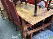 Sale 8593 - Lot 1039 - Recycled Timber Farmhouse Table (76 x 184 x 85cm)