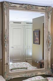 Sale 8568A - Lot 151 - An eclectic oversized painted rectangular mirror, 220 x 160cm