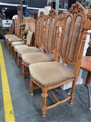 Sale 8697 - Lot 1035 - Set of Six Heavily Carved Dining Chairs