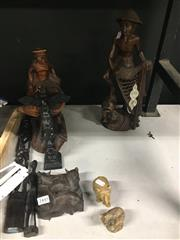 Sale 8759 - Lot 2445 - Collection of Carved Tribal Figures & Animals