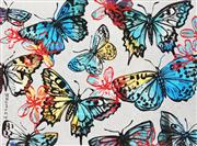 Sale 8791 - Lot 515 - David Bromley (1960 - ) - Butterflies 77 x 104cm