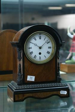 Sale 7914 - Lot 31 - French Satinwood 8 Day Time Piece with Key & Pendulum