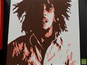 Sale 8461A - Lot 2018 - Bob Marley Pop Art-Style Painting on Canvas