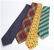 Sale 8640F - Lot 95 - Four ties, to include examples by Moschino, Nina Ricci, Alain Figaret and Giorgio Armani.