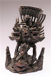 Sale 9070 - Lot 89 - A Carved Timber Garuda (H 34cm, some notable losses)