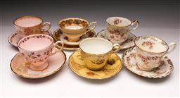 Sale 9098 - Lot 401 - Set of 5 Trios together with a Duo incl. Royal Albert, Aynsley