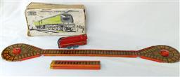 Sale 9142A - Lot 5106 - METTOY Mechanical Streamline locomotive c1940, made in England: complete with key and original box, good working condition