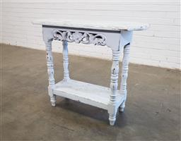 Sale 9154 - Lot 1033 - Painted timber hall table (h75 x w90 x d29cm)
