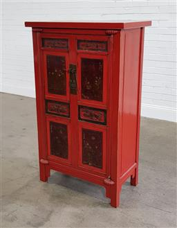 Sale 9188 - Lot 1606A - Chinese painted cabinet (h137 x w84 x d46cm)