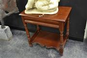 Sale 8046 - Lot 1002 - Single Drawer Hall Table w Shelf Below