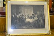 Sale 8093 - Lot 1731 - Antique English Etching in Gilt Frame