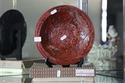 Sale 8160 - Lot 4 - Red Carved Bowl