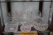 Sale 8217 - Lot 160 - Cut Crystal Bowls with Other Glass & Crystal