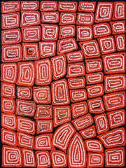 Sale 8266 - Lot 551 - Thomas Tjapaltjarri (c.1964 - ) - Tingari 95 x 80cm