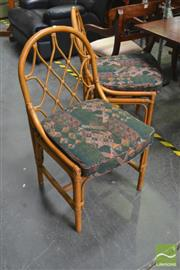 Sale 8277 - Lot 1058 - Set of Eight Cane Dining Chairs