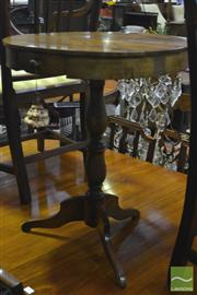 Sale 8317 - Lot 1066 - Round Timber Side Table with Single Drawer on Tripod Base