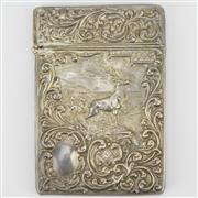 Sale 8342 - Lot 33 - English Hallmarked Sterling Silver Edward VII Calling Card Case
