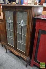Sale 8542 - Lot 1081 - Leadlight Front Music Cabinet