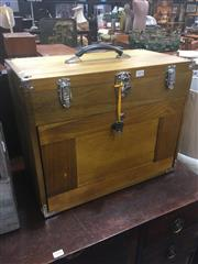 Sale 8740 - Lot 1414 - Timber Fitted Travelling Jewellery Case
