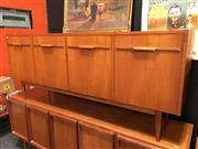 Sale 8859 - Lot 1001 - Vintage Teak 4 Door Sideboard