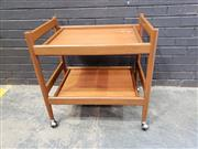 Sale 9039 - Lot 1037 - Teak Tea Trolley (h:74 x w:74 x d:50cm)