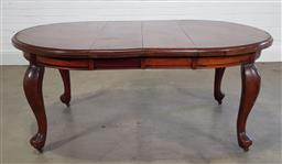 Sale 9215 - Lot 1477 - Early timber extension dining table (h74 x w176 x d120cm)